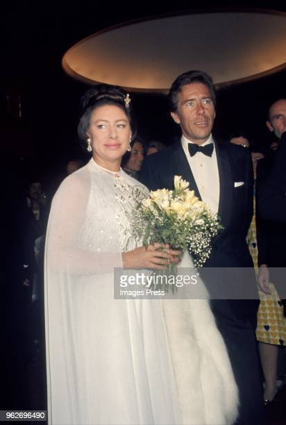 Princess Margaret and Antony ArmstrongJones attend the Royal Ballet at the MET circa May 1974 in New York City