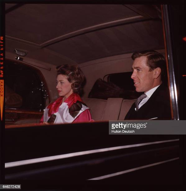 Princess Margaret and her husband, Lord Snowdon on their way to Buckingham Palace on the day of their son, Viscount Linley's Christening.