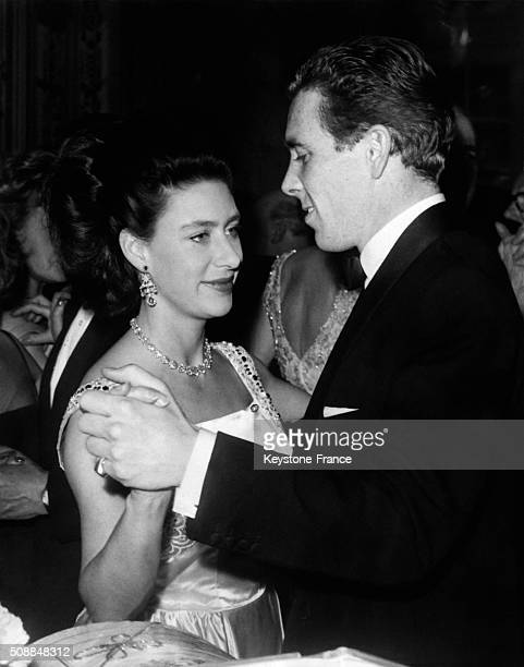 Princess Margaret And Husband Lord Snowdon Dancing At The Hotel Savoy During the Tribute For Dockers in London United Kingdom on November 8 1962