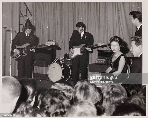 Princess Margaret and Lord Snowdon Daily Herald image of Princess Margaret Lord Snowdon and Cliff Richard listening to two of the Shadows at Club '59...