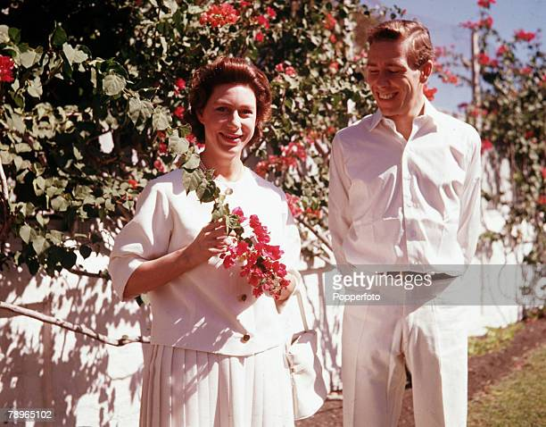 Princess Margaret and Lord Snowdon are pictured in the Bahamas