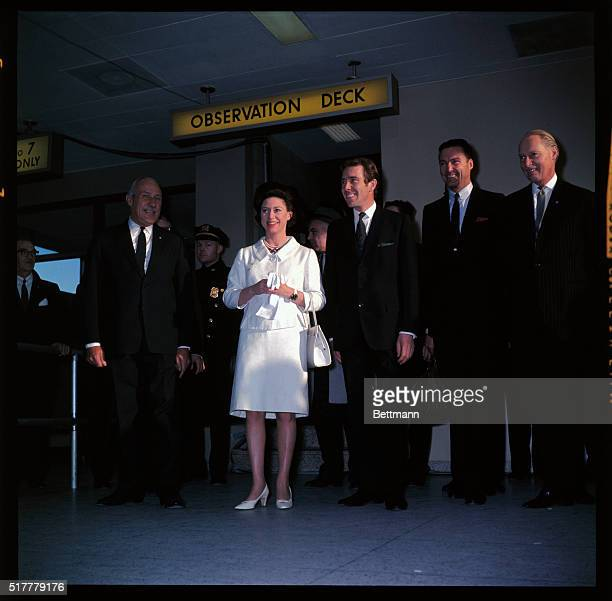 Princess Margaret and Lord Snowdon at JFK Airport in New York