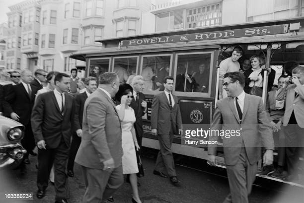 Princess Margaret and Lord Snowdon in San Francisco during a visit to America 7th November 1965