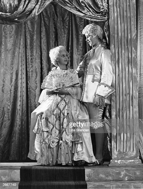 Princess Margaret and Princess Elizabeth act in the pantomine of Cinderella at Windsor Castle