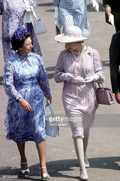 Princess Margaret And The Queen At Ascot Races 1922 June 1979