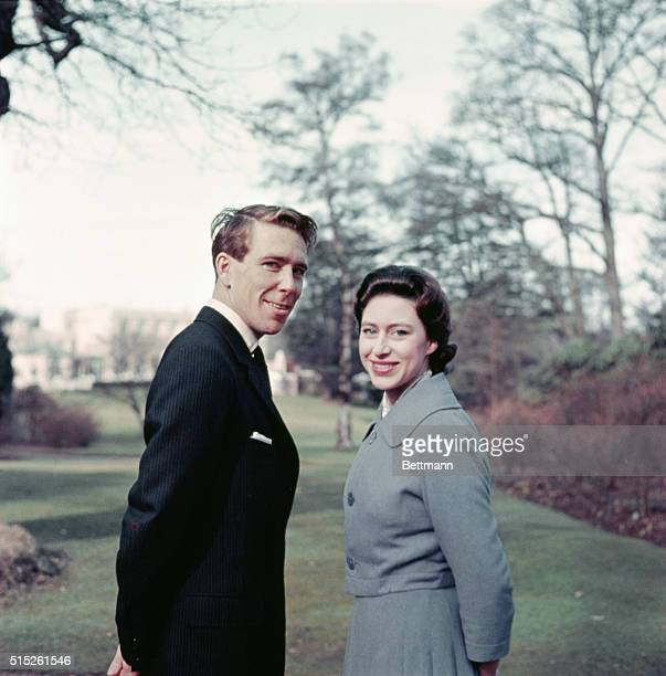 Princess Margaret Announces Engagement Windsor Berkshire England Princess Margaret and Anthony ArmstrongJones leave Windsor lodge to stroll the...