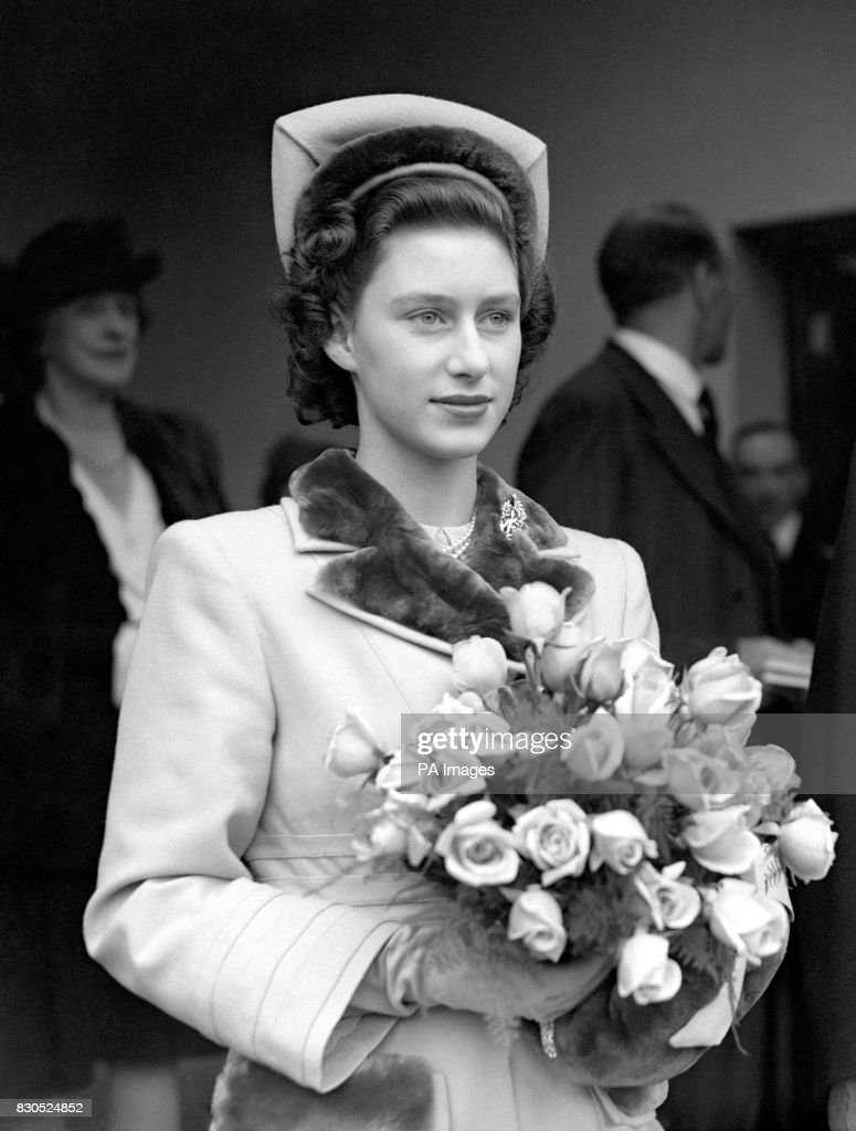 Princess Margaret approaching her 18th birthday on 21st August 1948.