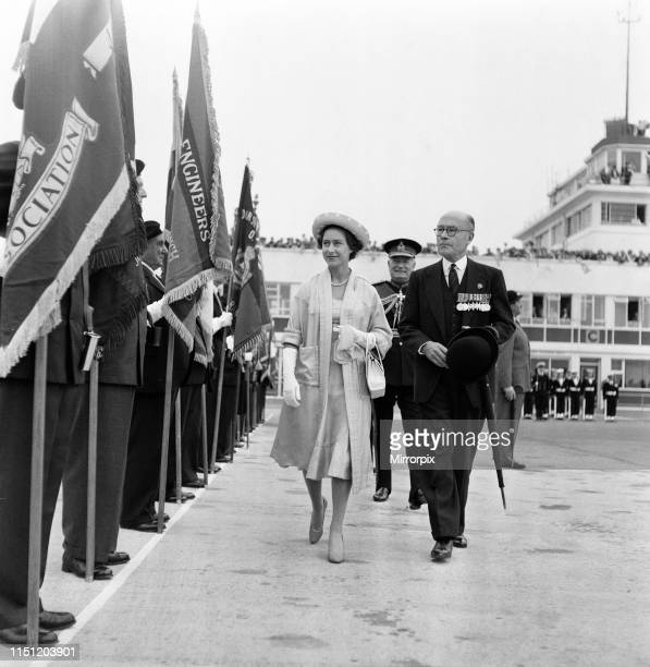 Princess Margaret arrives at Jersey Airport 24th June 1959