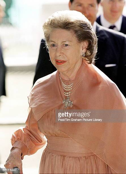 Princess Margaret Arriving For The Q Mother's 100th Birthday Pageant At Horseguards Parade In London