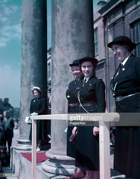 Princess Margaret at a Girl Guides rally in Chelmsford circa July 1949