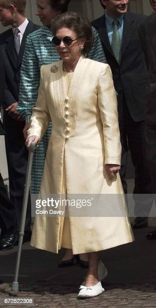 Princess Margaret at St James' Palace at an event to mark the Queen Mother's 99th birthday, London, 4th September 1999.