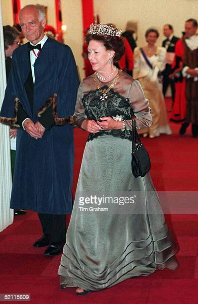 Princess Margaret At The Heads Of State Banquet At Guildhall London To Commemorate 50th Anniversary Of End Of War In Europe