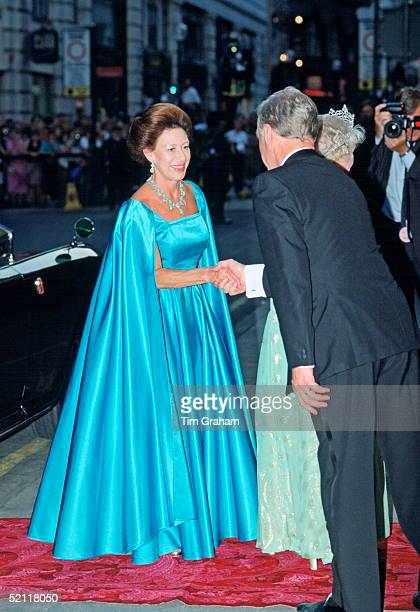 Princess Margaret At The London Palladium For The Queen Mother's 90th Birthday.