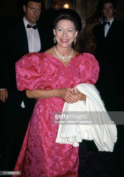 Princess Margaret at the Oscar de la Renta fashion show in aid of the NSPCC at Claridges Hotel in London, England on 1 June, 1992.