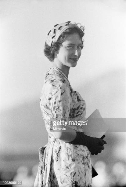 Princess Margaret attends Military Display at Up-Park Camp, Jamaica, at which Her Royal Highness inspected the Jamaica Regiment and took the Salute...