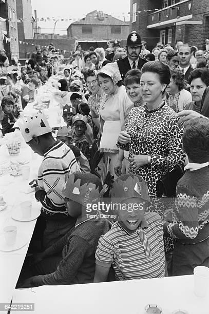 Princess Margaret attends the Deptford Festival in Berthon Street London UK 4th June 1971