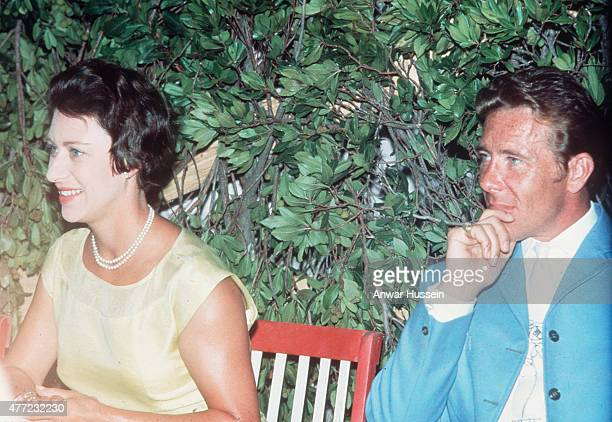 Princess Margaret and husband Tony ArmstrongJones relax during their honeymoon on June 01 1960 in the West Indies