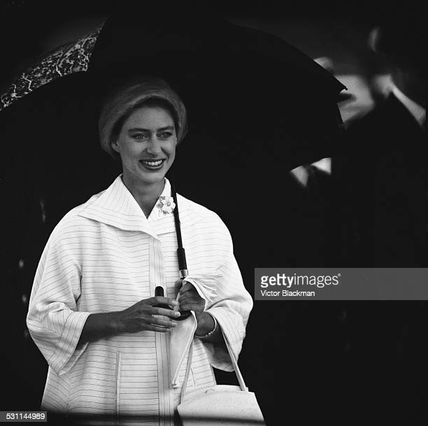 Princess Margaret Countess of Snowdon arrives in England after her tour of Canada 12th August 1958