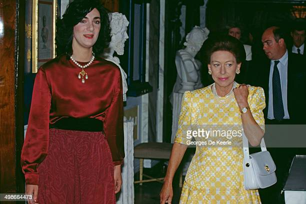 Princess Margaret Countess of Snowdon at 10 Downing Street London during an official visit by Nelson Mandela 4th July 1990