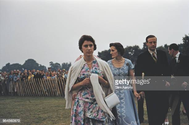 Princess Margaret Countess of Snowdon at Great Windsor Park to attend a polo tournament UK 1955
