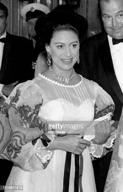 Princess Margaret, Countess of Snowdon attends Royal Ballet Gala in London, England on September 1, 1969.