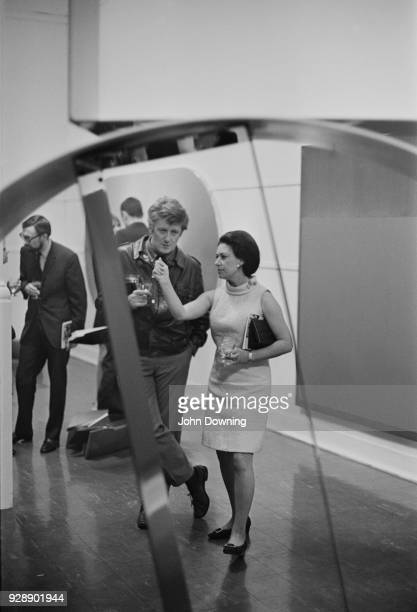 Princess Margaret Countess of Snowdon with her husband Antony ArmstrongJones 1st Earl of Snowdon at the Whitechapel Gallery London UK 17th May 1968