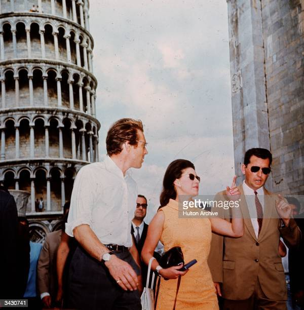 Princess Margaret in Italy with her husband Lord Snowdon