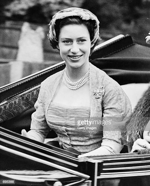 Princess Margaret is driven to the opening meeting of the Royal Ascot horseracing event June 17 1952 near Windsor in Berkshire Buckingham Palace...