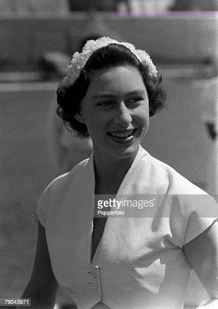 1955 Princess Margaret is pictured during the Royal Tour of the Caribbean