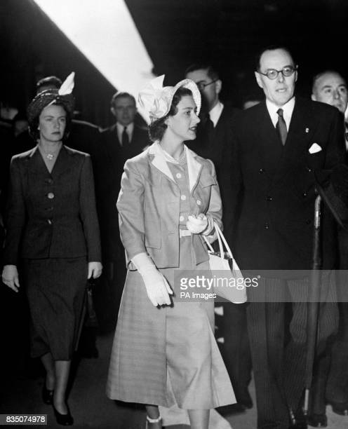 Princess Margaret is seen here as she took her first look at Paris today on her arrival at the Gare de Lyons from Switzerland