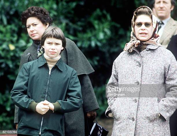Princess Margaret, Lady Sarah Armstrong-jones And The Queen At The Windsor Horse Show.