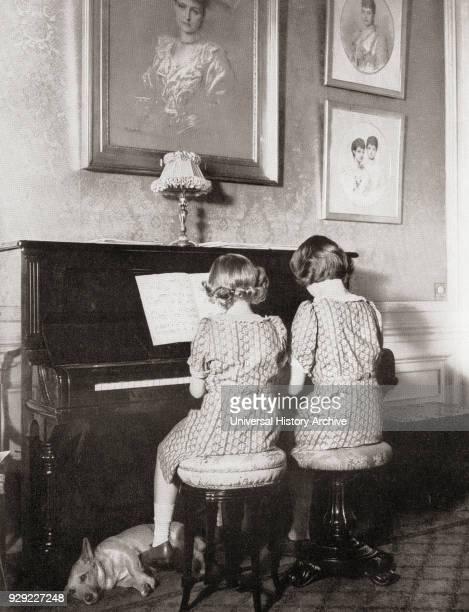 Princess Margaret left and Princess Elizabeth future Queen Elizabeth II right playing a duet at the piano in 1940 Princess Margaret Margaret Rose...