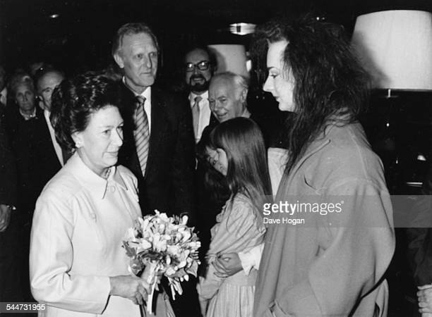 HRH Princess Margaret meeting singer Boy George at the Sony Radio Awards London May 30th 1984