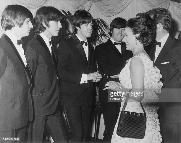 Princess Margaret Meets Beatles MBE London HRH Princess Margaret Countess of Snowdon and the Earl of Snowdon last night attended the Royal World...