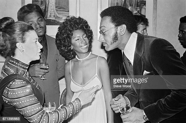 Princess Margaret meets members of The Four Tops and The Supremes backstage at the Royal Albert Hall in London UK 30th November 1971 From left to...