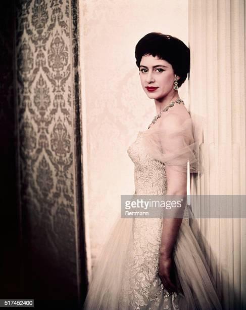 4/14/1958 Princess Margaret of England closeup portrait for release UPI color slide