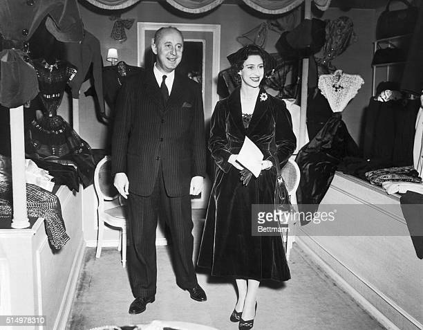 Princess Margaret of Great Britain, this afternoon visited the Paris fashion house of Christian Dior where she admired the collection, and was...