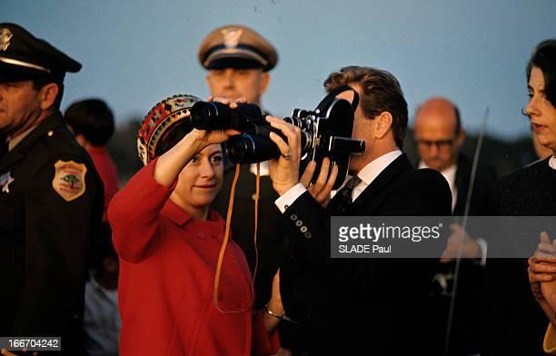 Princess Margaret Of The United Kingdom And Antony ArmstrongJones In The United States Aux EtatsUnis en 1965 lors d'un voyage de la Princesse...
