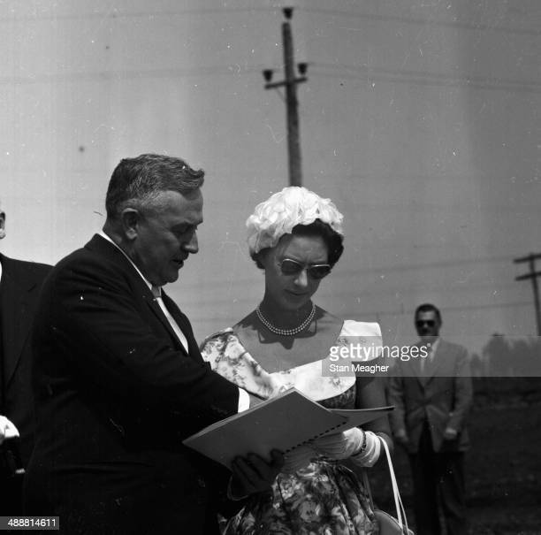 Princess Margaret on an official Royal visit to Fort St John Canada 1958