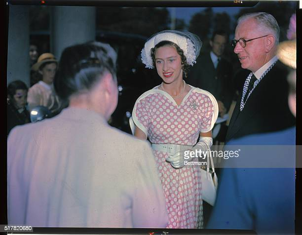 Princess Margaret Rose of England performed the ceremony of the reopening of the Women's Resident Training college for elementary school teachers at...