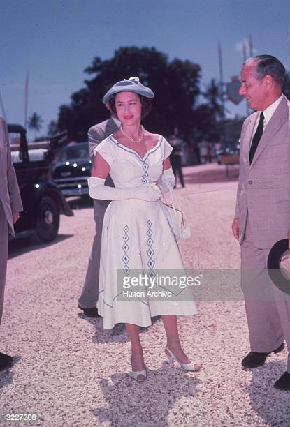 Princess Margaret Rose younger daughter of King George VI and Queen Elizabeth on tour in East Africa