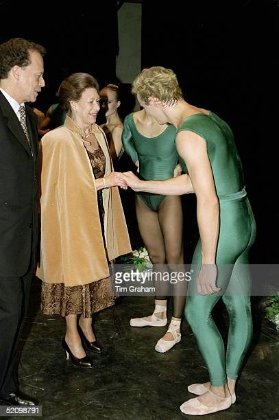 Princess Margaret Talking With A Member Of The Royal Ballet After Their Opening Performance At The New Sadler's Wells Theatre L0ndon