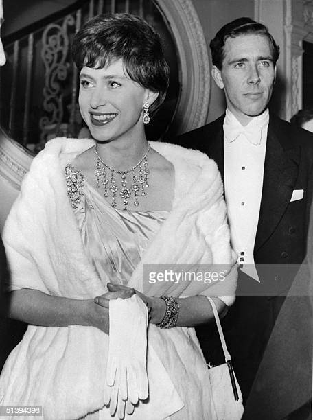 Princess Margaret the younger sister of future Britain's Queen Elizabeth II and her husband the photographer Antony ArmstrongJones arrive in 1960 in...