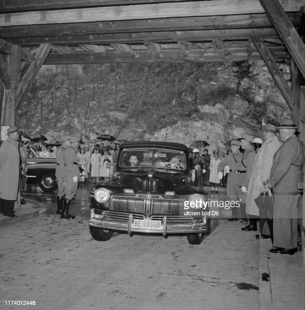 Princess Margaret visits Castle Chillon 1949