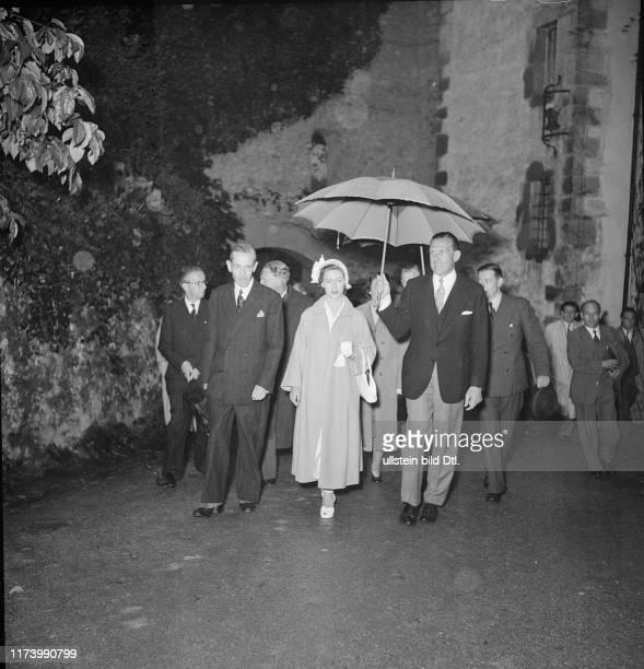 Princess Margaret visits Castle ChillonPrincess Margaret visits Castle Chillon 1949