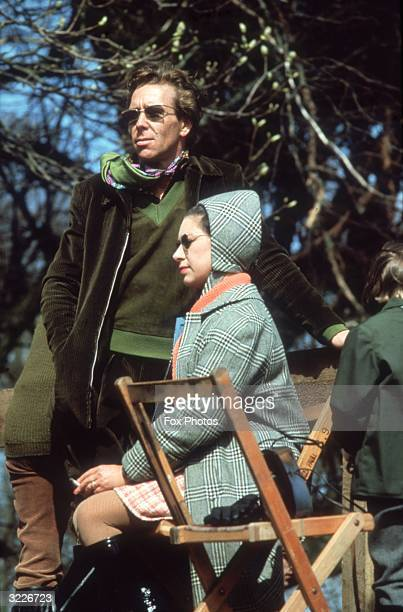 Princess Margaret watching the Badminton horse trials with her husband Antony ArmstrongJones