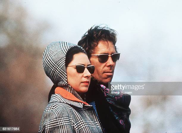Princess Margaret with her husband, born Antony Armstrong-Jones, photographer Lord Snowdon attend Badminton Horse Trials on April 18, 1970 in...