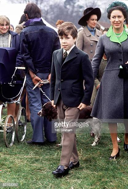 Princess Margaret With Her Son Viscount Linley At Ponies Of Britain Show Near Ascot Berkshire