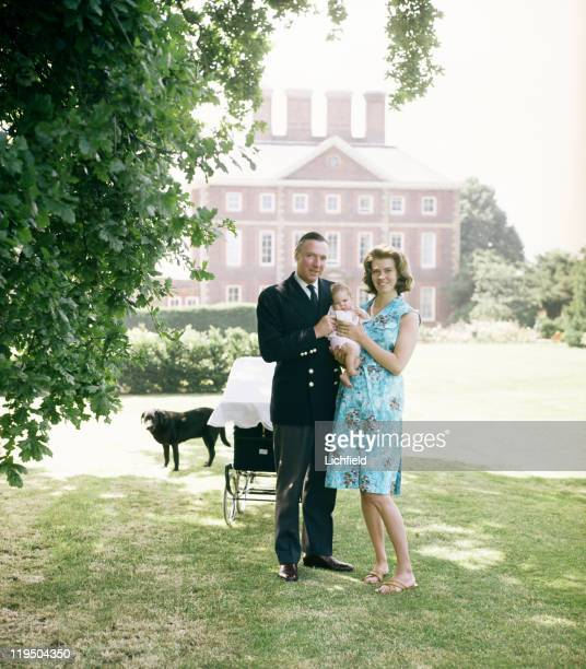 Princess Margaretha and family With her husband John Ambler and their daughter Sibylla at Winslow Hall Buckinghamshire 30th June 1965