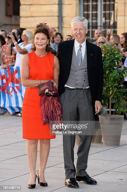 Princess Margaretha Of Liechtenstein and Prince Nikolaus Of Liechtenstein attend the Religious Wedding Of Prince Felix Of Luxembourg and Claire...